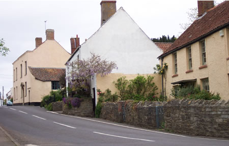 Cottages in Stogursey high street